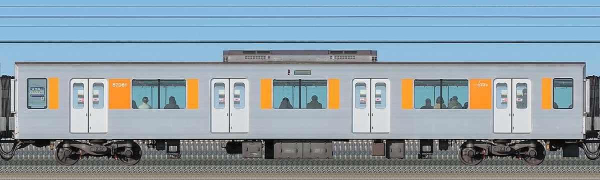 東武50050型サハ57061海側の側面写真