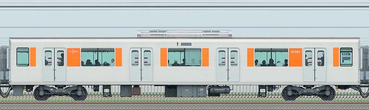 東武50050型サハ57061山側の側面写真