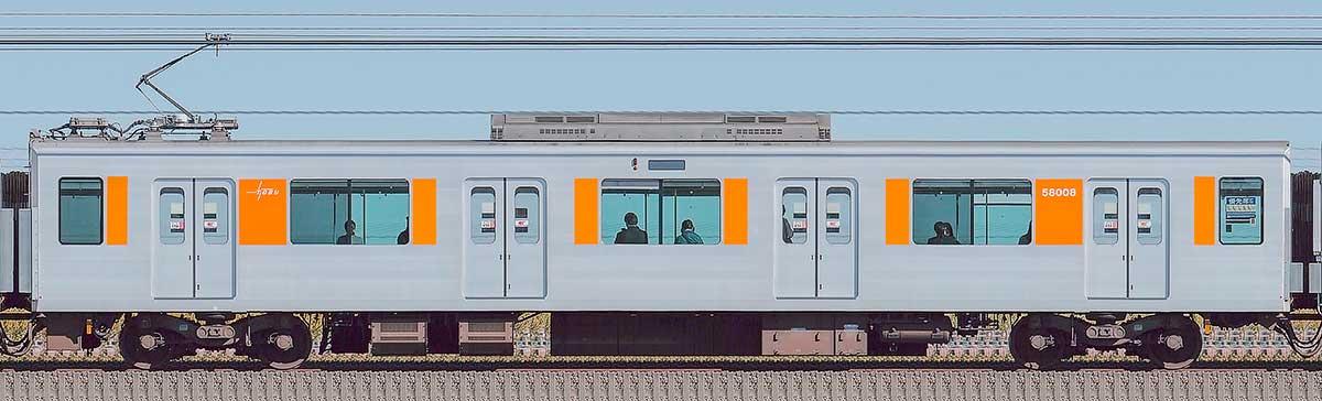 東武50000型モハ58008(スカイツリーライン)山側の側面写真