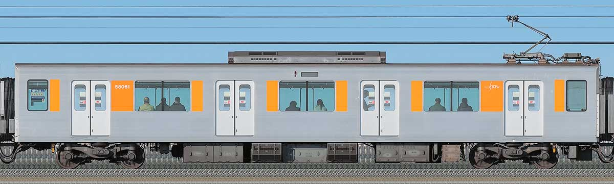 東武50050型モハ58061海側の側面写真