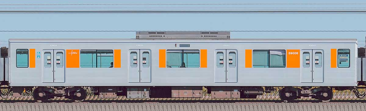 東武50000型モハ59008(スカイツリーライン)山側の側面写真