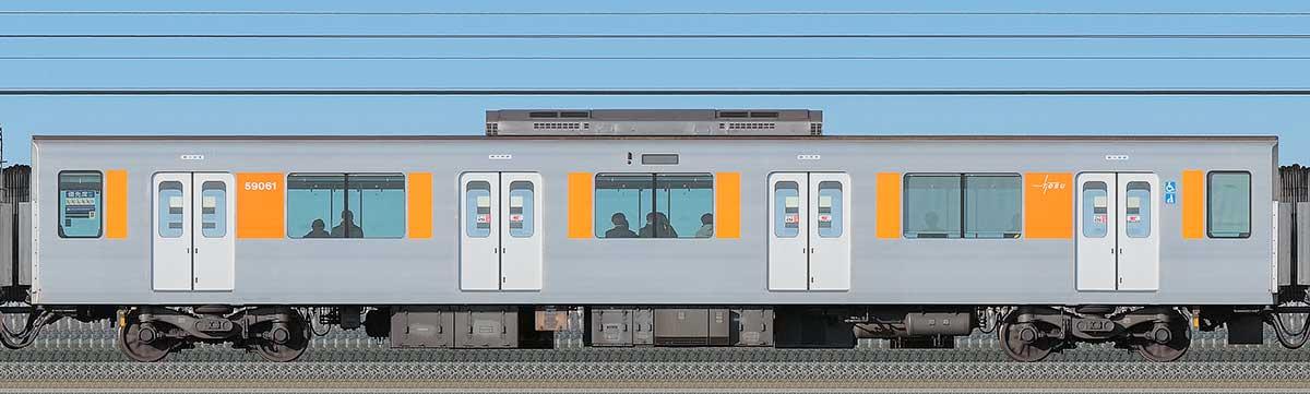 東武50050型モハ59061海側の側面写真