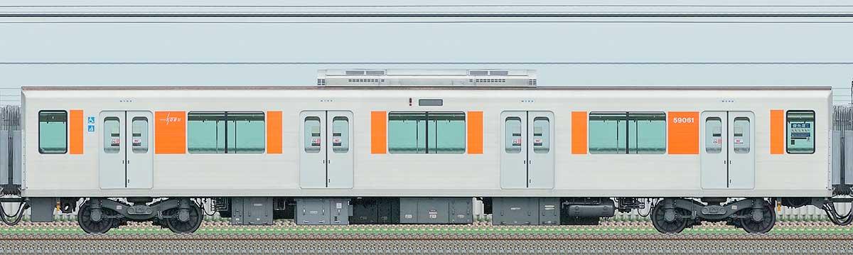 東武50050型モハ59061山側の側面写真