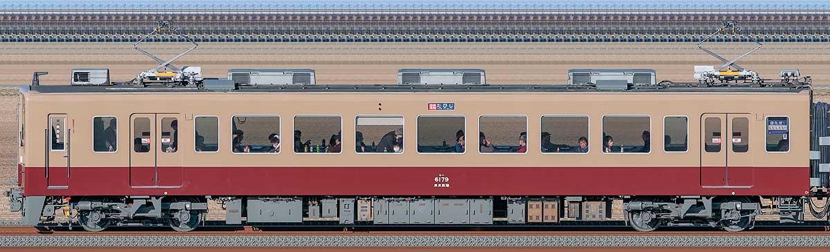 東武6050型モハ6179「6000系リバイバルカラー」山側の側面写真