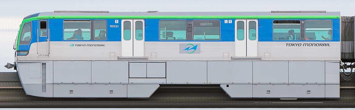 東京モノレール10000形10031山側の側面写真
