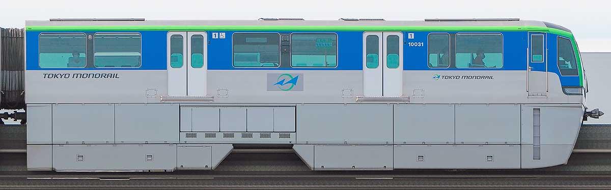 東京モノレール10000形10031海側の側面写真