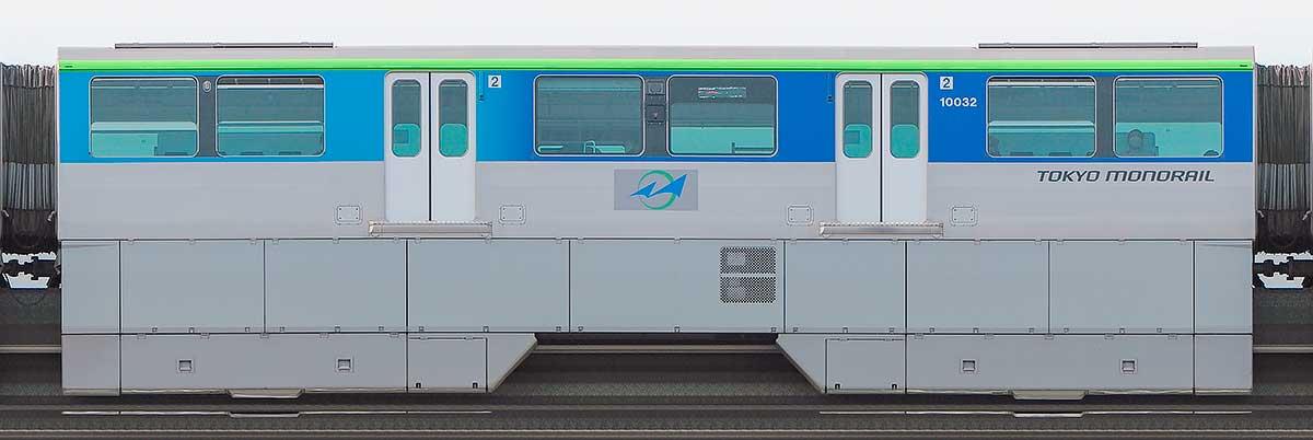 東京モノレール10000形10032海側の側面写真