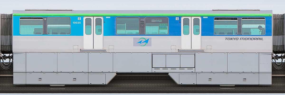 東京モノレール10000形10035山側の側面写真