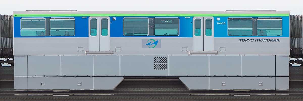 東京モノレール10000形10035海側の側面写真