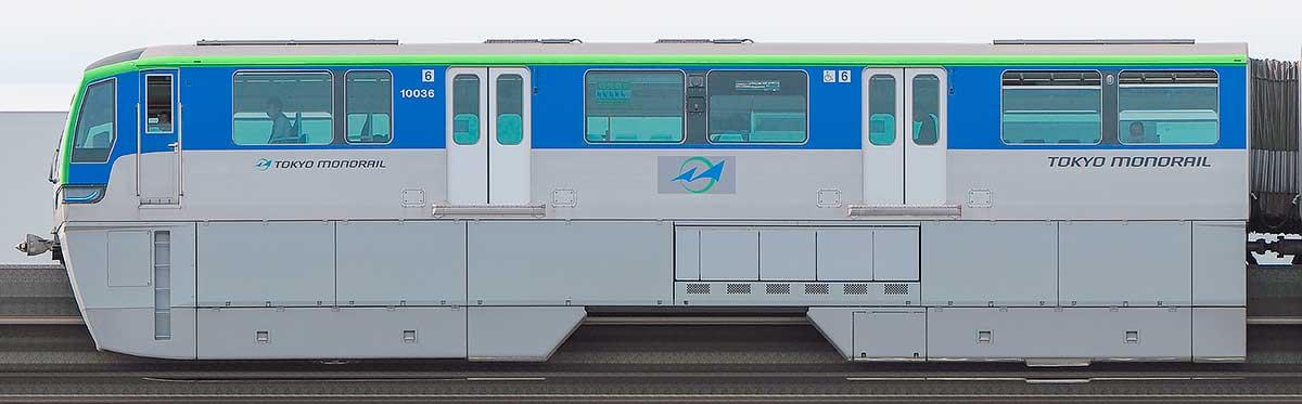 東京モノレール10000形10036海側の側面写真