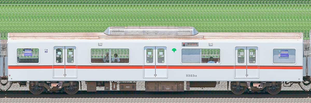 東京都交通局 浅草線 5300形5323-2海側の側面写真