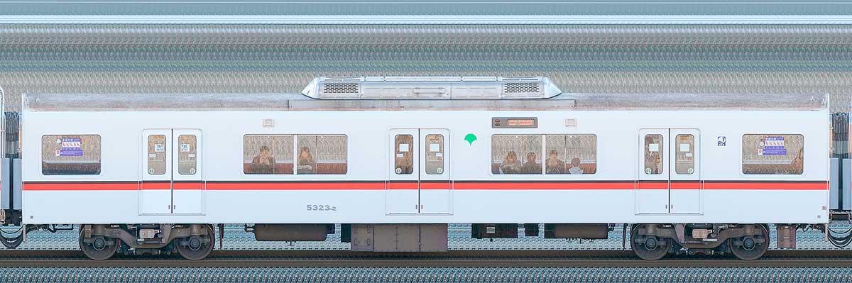 東京都交通局 浅草線 5300形5323-2山側の側面写真