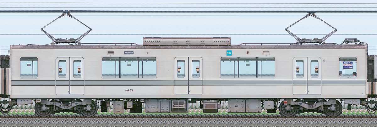 東京メトロ03系03-605の側面写真|RailFile.jp|鉄道車両サイドビュー ...