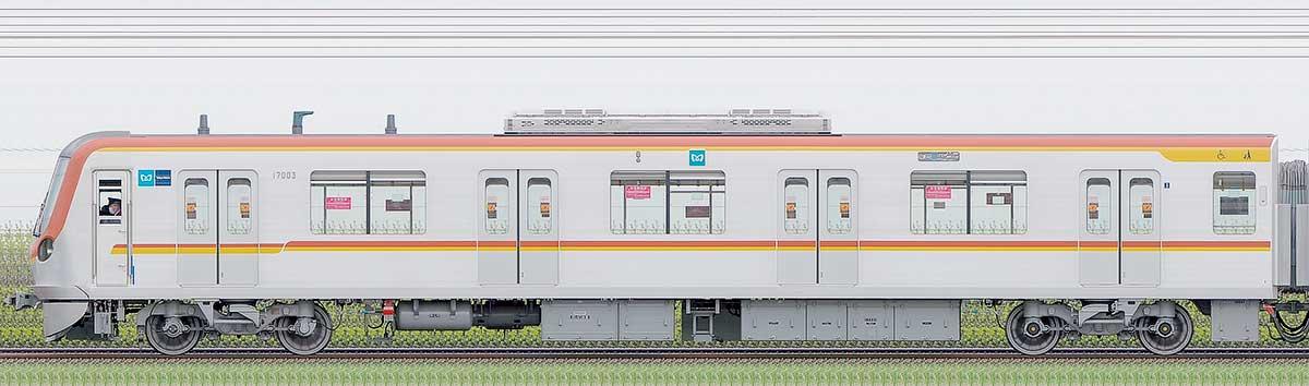 東京メトロ17000系170031側の側面写真