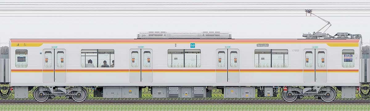 東京メトロ17000系172031側の側面写真