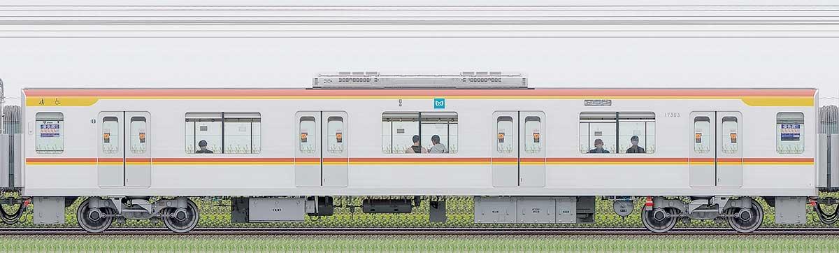 東京メトロ17000系173031側の側面写真