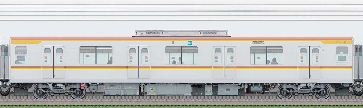 東京メトロ17000系175032側の側面写真