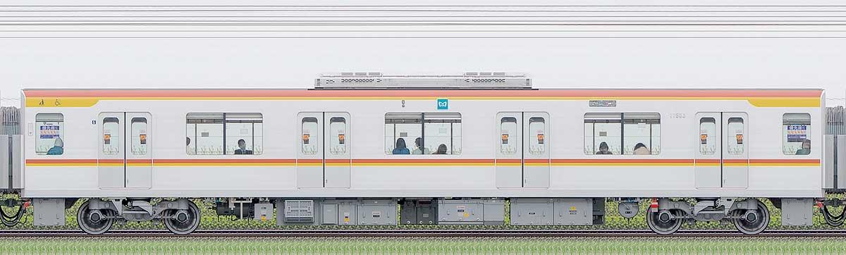 東京メトロ17000系175031側の側面写真