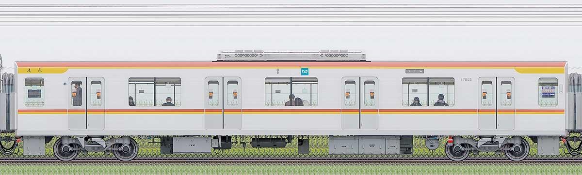 東京メトロ17000系178031側の側面写真