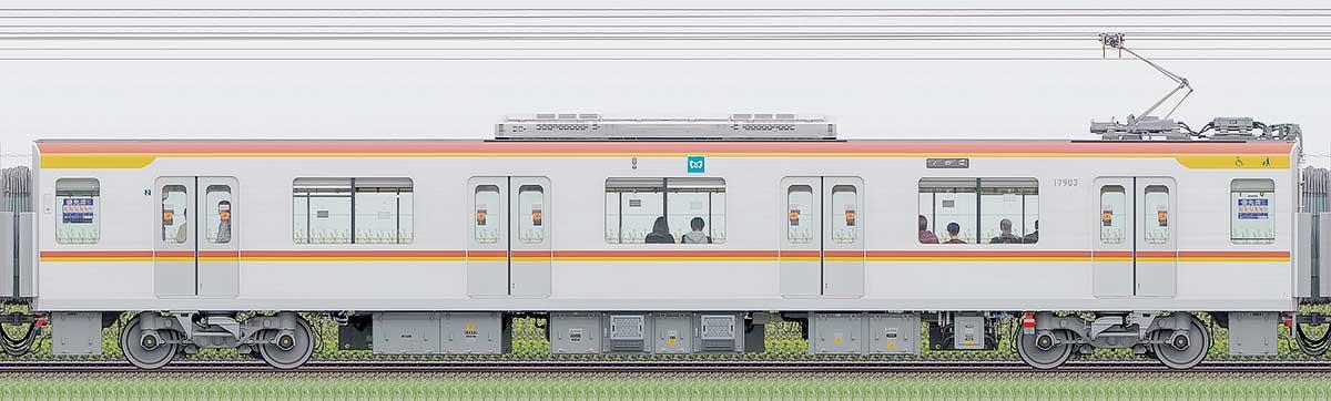 東京メトロ17000系179031側の側面写真