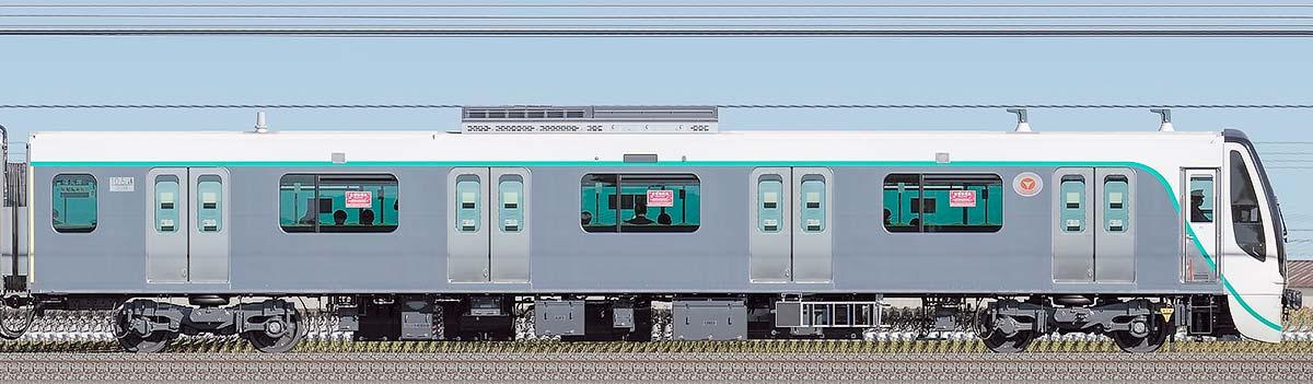 東急2020系クハ2038山側の側面写真
