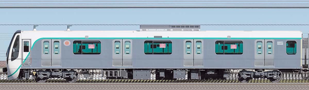 東急2020系クハ2138山側の側面写真
