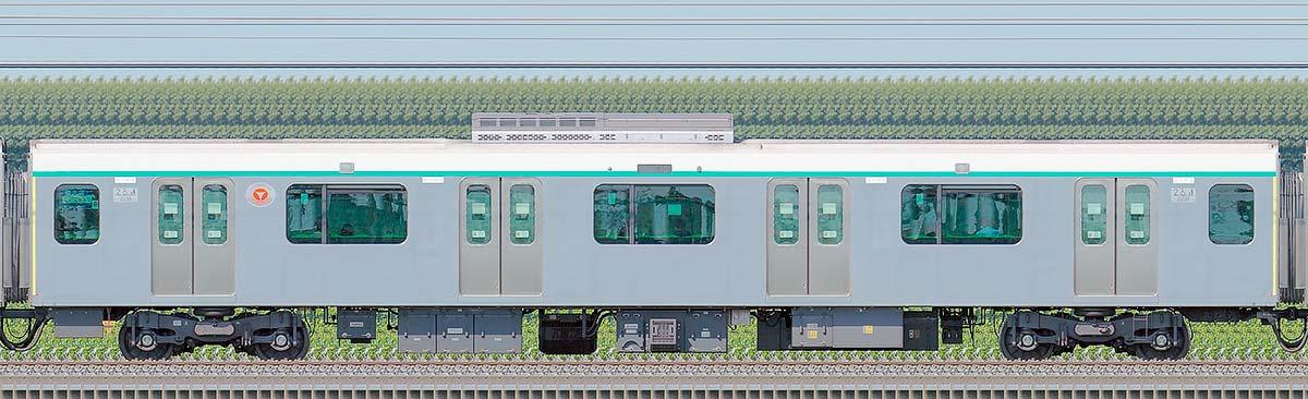 東急2020系デハ2238海側の側面写真