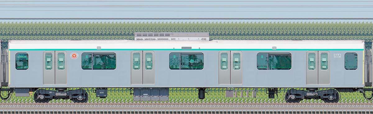 東急2020系サハ2538海側の側面写真