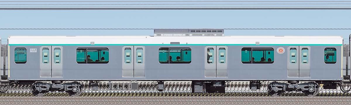 東急2020系サハ2538山側の側面写真