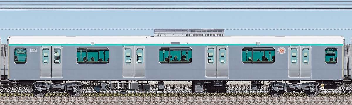 東急2020系サハ2738(慣性軌道検測装置搭載車)山側の側面写真