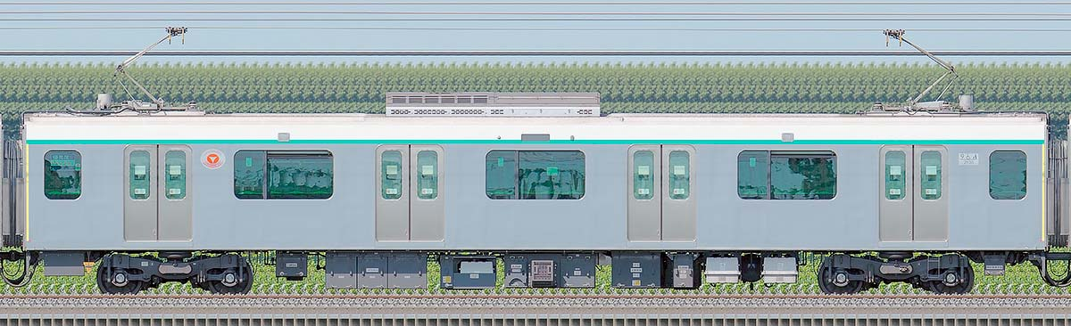 東急2020系デハ2938海側の側面写真
