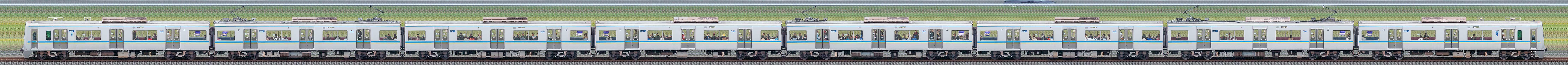 千葉ニュータウン鉄道9200形9201編成(山側)の編成サイドビュー