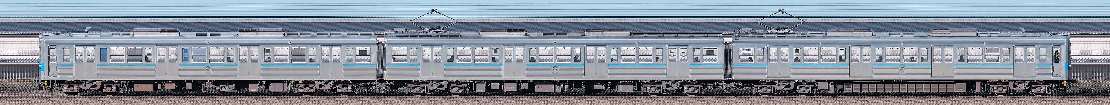 秩父鉄道5000系5002編成の編成サイドビュー