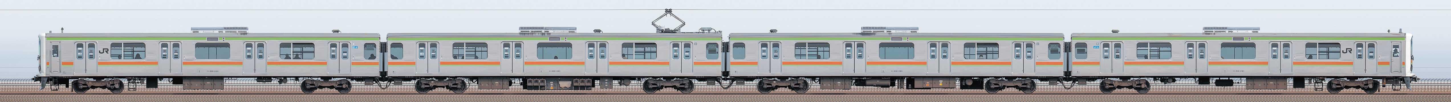 JR東日本 八高・川越線 209系3100番台 川71編成(山側)の編成サイドビュー
