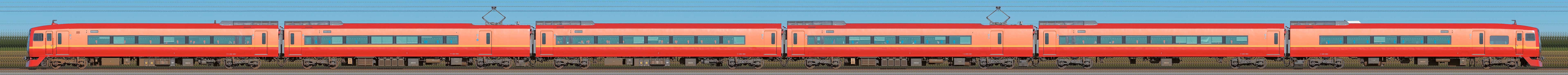 JR東日本 253系1000番台OM-N01編成(山側)の編成サイドビュー