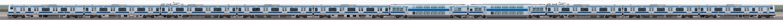JR東日本 常磐線 E531系K406編成(線路設備モニタリング装置対応編成・山側)の編成サイドビュー
