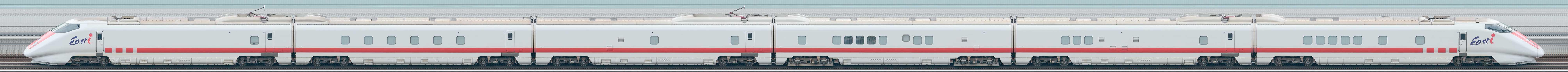 JR東日本E926形新幹線電気・軌道総合試験車「East i」S51編成(山側)の編成サイドビュー
