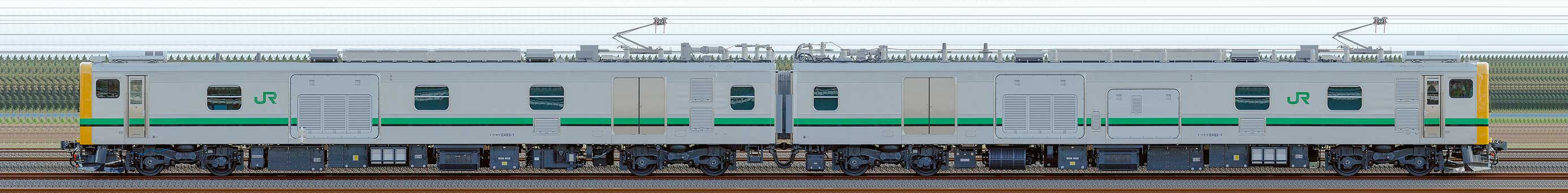 JR東日本E493系01編成(山側)の編成サイドビュー