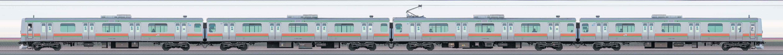 JR東日本 八高・川越線 E231系3000番台 川42編成(海側)の編成サイドビュー