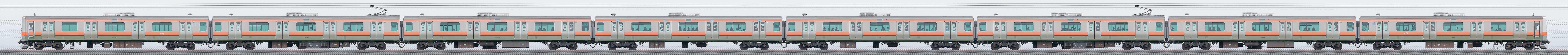 JR東日本 武蔵野線 E231系MU35編成(山側)の編成サイドビュー