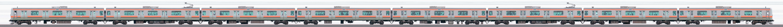 JR東日本 武蔵野線 E231系MU2編成(線路設備モニタリング装置搭載編成・山側)の編成サイドビュー