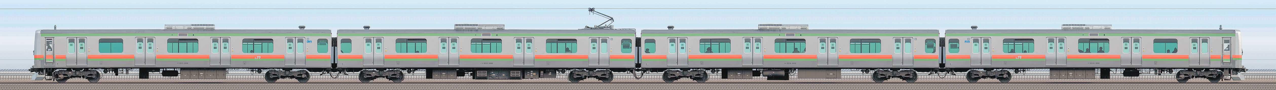 JR東日本 八高・川越線 E231系3000番台 川42編成(山側)の編成サイドビュー