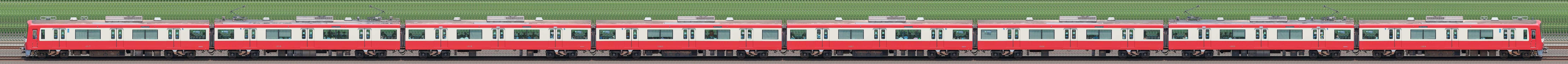 京急電鉄 新1000形(1次車)1017編成(海側)の編成サイドビュー