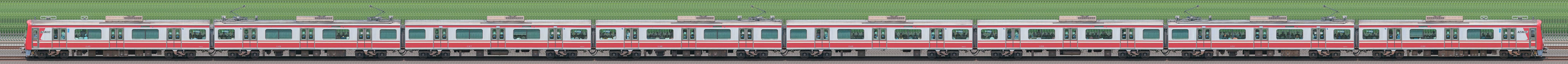 京急電鉄 新1000形(11次車)1145編成(海側)の編成サイドビュー