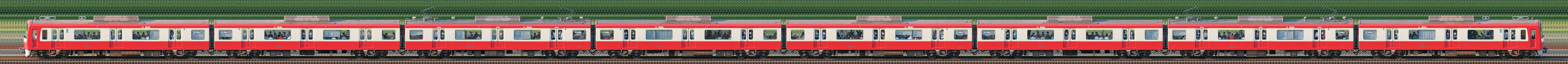 京急電鉄 600形(4次車)608編成(海側)の編成サイドビュー