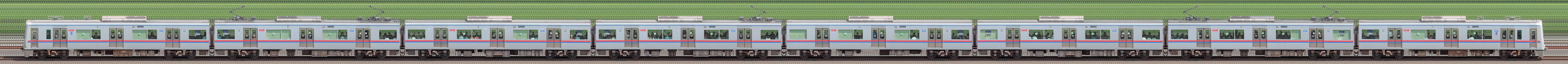 京成3000形(13次車)3036編成(海側)の編成サイドビュー