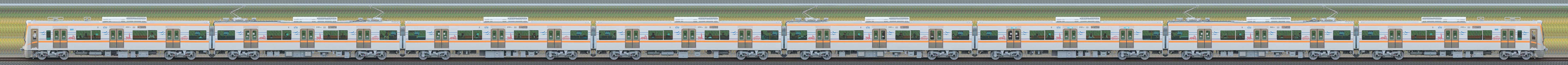 京成3100形(1次車/3150形)3151編成(山側)の編成サイドビュー