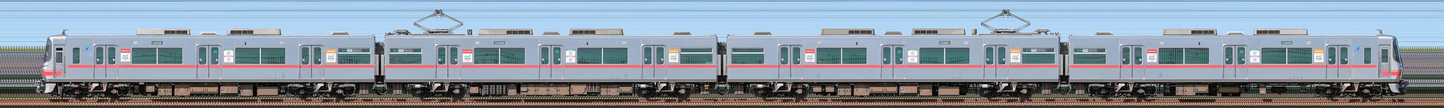 名鉄5000系5001編成(山側)の編成サイドビュー
