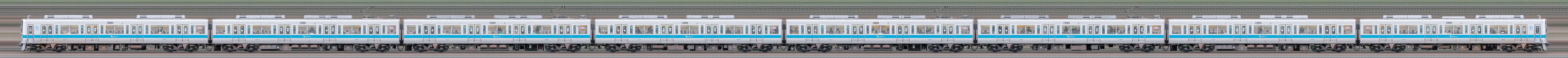 小田急1000形1081×8(山側)の編成サイドビュー