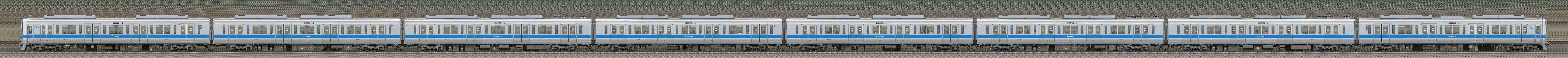 小田急2000形2052×8(山側)の編成サイドビュー